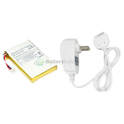 Battery for Apple iPod 3rd Gen 3G 15GB +AC Wall Charger