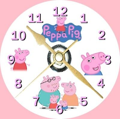 Peppa Pig Novelty Cd Clock Can be personalised