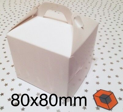 30 Single White CUPCAKE Boxes ~ 80 x 80mm with inserts  ~ £4.85 inc P&P