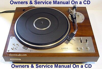 Pioneer Pl 530 Turntable Owners & Service Manual On  Cd