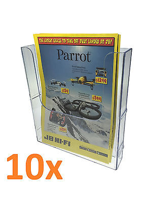 10x A4 Wall Mounted  Brochure Holder EXTENDABLE