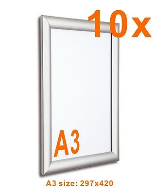 10x A3 Wall Mounted Snap Frame Poster Frame