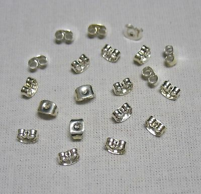 20 Silver Plated Earring Backs.