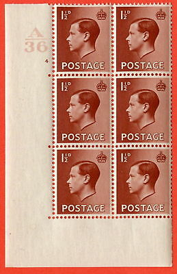 SG. 459. P3. 1½d Red-brown. Control  A36. Cylinder 4.