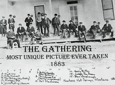 """OLD WEST 1883 Gathering Wyatt Earp Butch Cassidy Doc Holiday POSTER 11"""" x17"""" New"""