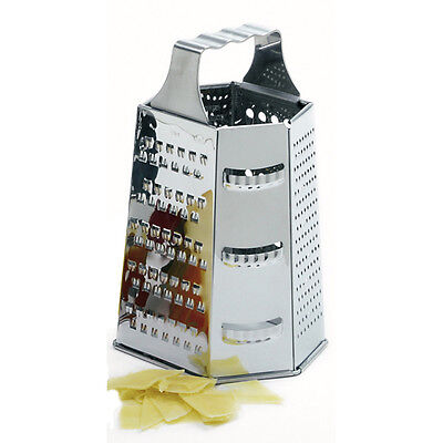 Norpro 327 Stainless Steel Cheese Grater 6 Sided