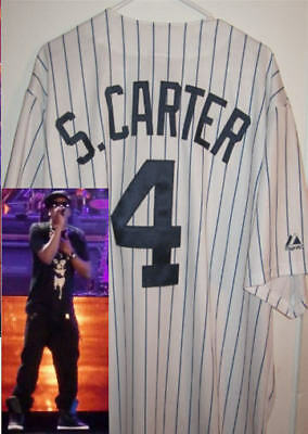 Jay-Z Majestic Authentic Ny Yankees Jersey S.carter  Xl