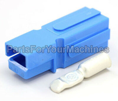 SINGLE POLE HOUSING w/CONTACT #8AWG, OEM ANDERSON, BLUE, PP75