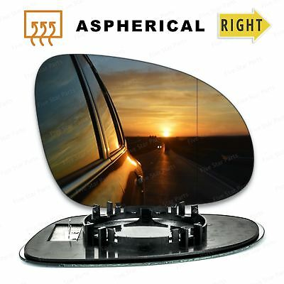 Right Driver side Wide Angle Wing mirror glass for VW Passat 2005-10 Heated