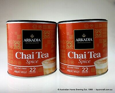 Arkadia Spice Chai Tea Latte 440g x 2 cafe drink