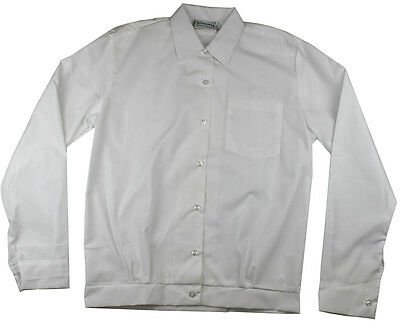Girls Banded School Shirt White Sz 4 6 8 10 12 14 16 18 20 22 24 26 28 Aus Made!