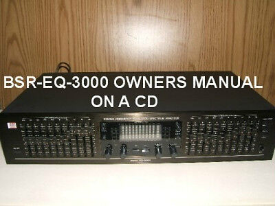 Bsr Eq-3000 Stereo Equalizer Owners Manual On A Cd Free Same Day Shipping