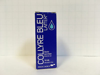ORIGINAL Collyre Bleu Blue Laiter Eye Drop - 10ml (Sealed)