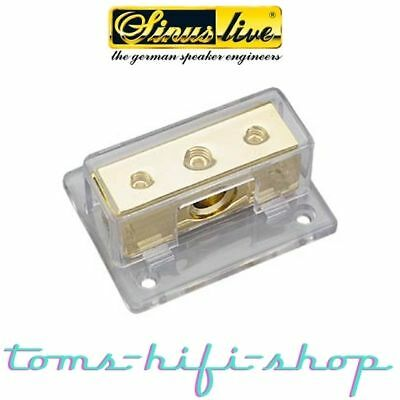 SinusLive VB1-2 Stromverteiler Verteilerblock 2x25mm² - 50mm² vergoldet +Adapter