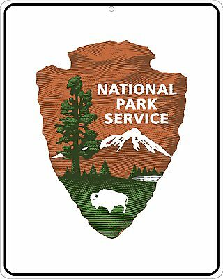 National Park Service Arrowhead large 11x14 Metal sign