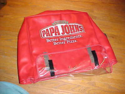 "1 PAPA JOHN'S Pizza Bag 16""x17""x7"" 3 pizzas used"