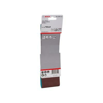 Bosch Schleifband Best for Wood / Paint / X440 75x533 mm K320 2608606076 3er-Pac