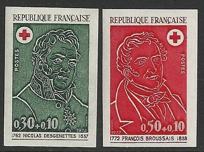 France 1972 YV 1735-1736 Imperforated  MNH  VF