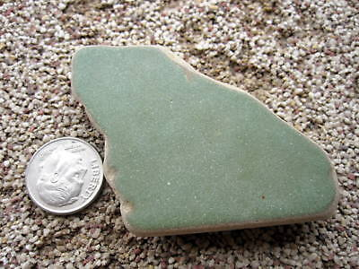 Beach Sea Glass Ceramic Pottery Green Surf Tumbled