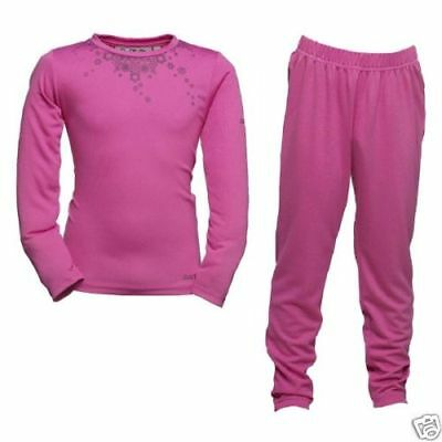 Girl's Dare2b Top and Bottom Pink Base Layer Set.