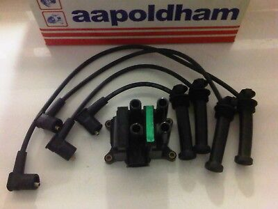Ford Mondeo Mk3 1.8 2.0 16V Duratec 00-05 New Ht Leads Set & Ignition Coil Pack
