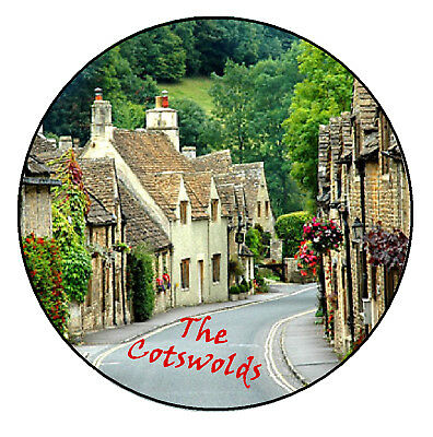 The Cotswolds - Round Souvenir Novelty Fridge Magnet - Sights / New / Gifts