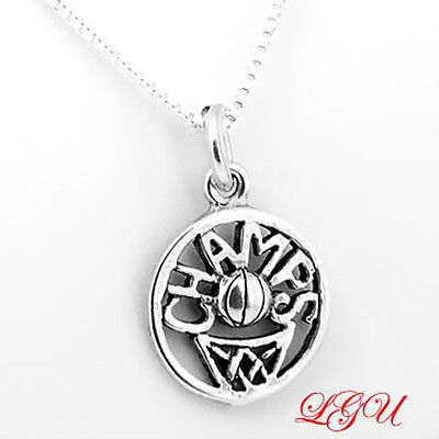 SILVER BASKETBALL CHAMPS CHARM & BOX CHAIN NECKLACE