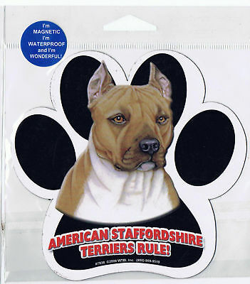 Staffordshire Terrier Waterproof Bumper Sticker Magnet