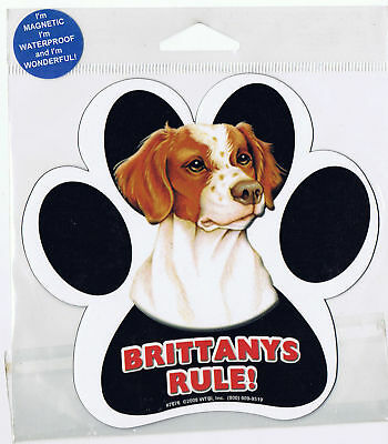 Brittany Rules Waterproof Bumper Sticker Magnet NIP