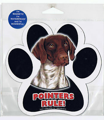 Pointers Rule Waterproof Bumper Sticker Magnet NIP