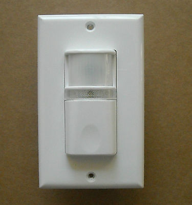 Vacancy (Manual-On Occupancy) Wall Motion Sensor Detector Switch Led Night Light