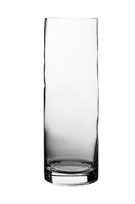 "12"" Clear Glass Cylinder Vase H-12"", D-4"" Wedding Centerpiece decoration - 6pcs"