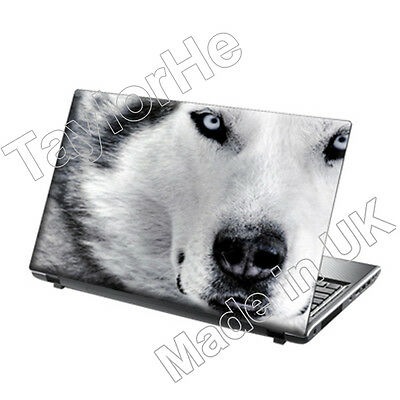 Laptop Skin Cover Notebook Sticker Wolves Face