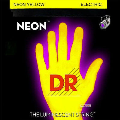 DR Neon YELLOW Elec Guitar Strings 10-46 MEDIUM