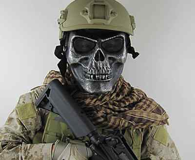 Face Protect Army M02 Metallic Skull Warrior armor Mask
