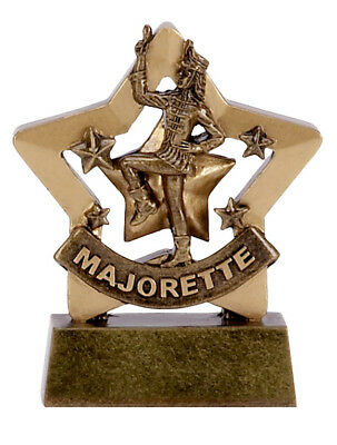 Football Mini Star SOLID RESIN Trophy Award 8 cm a1129 Free ENGRAVING GMS
