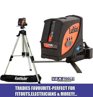 LUFKIN Cross Liner plumb 2 beam Laser Level & Tripod Kit-LCL4SET-VALUED@$349 PLS