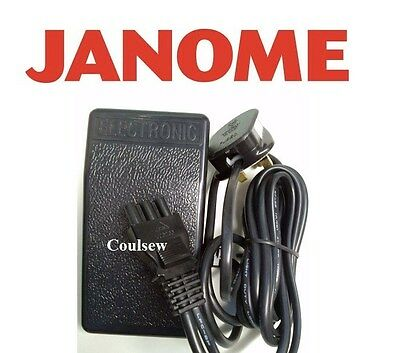 JANOME OVERLOCKER FOOT CONTROL. (GENUINE JANOME) Overlock Pedal & Lead Cable