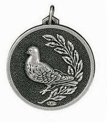PIGEON TROPHY RACING BIRD MEDAL AWARD 56mm GOLD OR SILVER C147