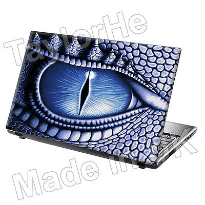 "15.6"" Laptop Skin Cover Sticker Decal Dragon Eye Blue"