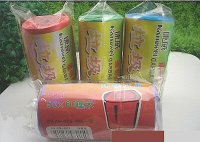 50 Pcs Plastic Garbage Trash Bag No Unpleasant Odour