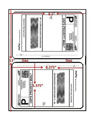 200 Easy Peel Shipping Labels 2/page Round Corner New