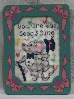 You are the Song I Sing Completed Framed Cross Stitch
