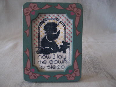 Now I Lay me Down to Sleep Complete Framed Cross Stitch