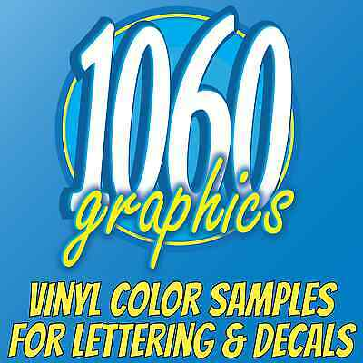 Vinyl Color Samples for Doors Windows Vehicles Signs Lettering Decals Truck Boat