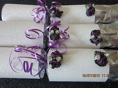 * Handmade & Made To Order Glitz N Rose Wedding Favours Place Card Maybe Added*