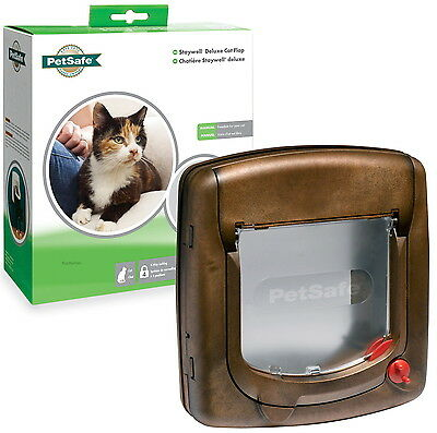 Staywell PetSafe 320 4 Way Locking Brown Cat Flap Door TT