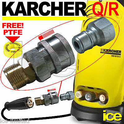 Karcher 22Mm M22F High Pressure Hose Gun Quick Release Adaptor Conversion Kit