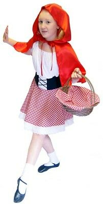 LITTLE RED RIDING HOOD fancy Dress costume ALL AGES
