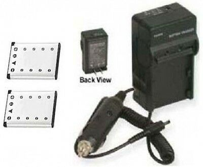 2 Two Batteries + Charger for Olympus X-800 X-820 X-825 X-830 X-835 X-845 X-855